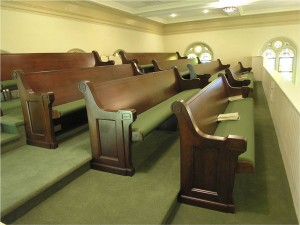 1920's Era Pews Refinished