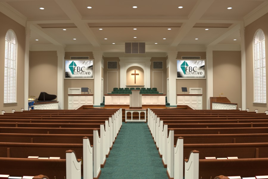 interior design and 3 d renderings - Modern Church Interior Design Ideas