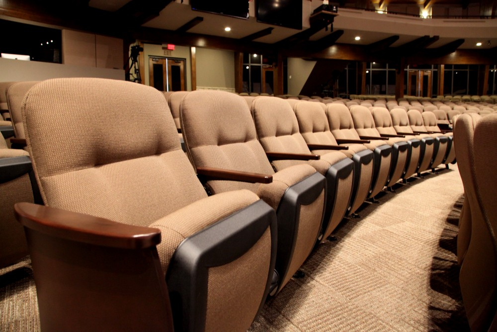 Church theater seating is a fixed option and it provides a defined ...
