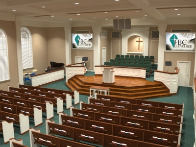 Baptist Church Renovation Pews Choir Chairs Flooring Interior Design Courses Toronto