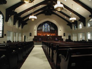 Pews from the 1906 replication