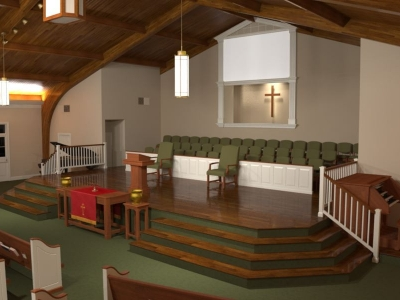 Baptist Church Renovation Pews Choir Chairs Flooring